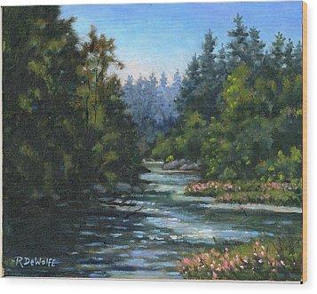 Jones' Creek Wood Print by Richard De Wolfe