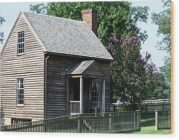 Jones Law Office Appomattox Court House Virginia Wood Print by Teresa Mucha