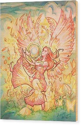 Jophiel Wood Print by Arwen De Lyon