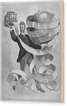 Joseph Pulitzer Wood Print by Granger