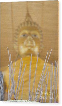 Joss Sticks Wood Print by Roberto Morgenthaler