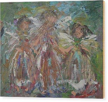 Joyful Chorus Wood Print by Kathy  Cuiffi