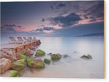 Juan Les Pins, French Riviera Wood Print by Eric Rousset