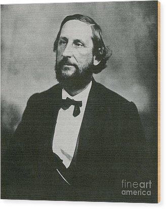 Judah P. Benjamin, Confederate Wood Print by Photo Researchers