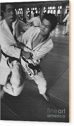 Judo Wood Print by Bernard Wolff