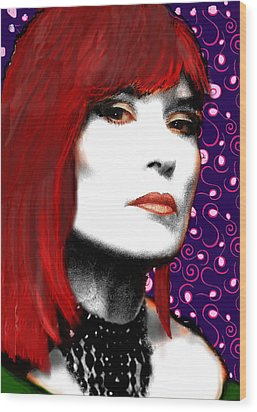 Wood Print featuring the painting Judy Rose by Jann Paxton