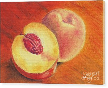 Juicy Fruit Wood Print by Iris M Gross