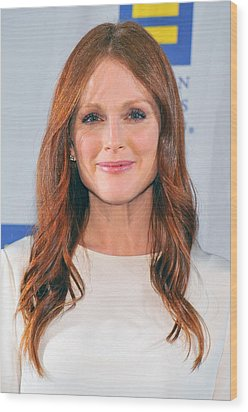 Julianne Moore At Arrivals For No Wood Print by Everett