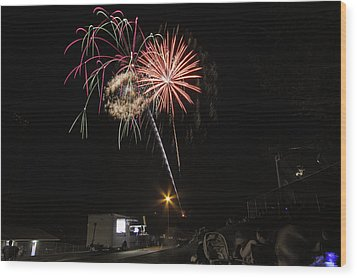 Wood Print featuring the photograph July 4th 2012 by Tom Gort