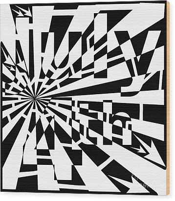 July 4th Maze Wood Print by Yonatan Frimer Maze Artist