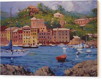 July In Portofino Wood Print by R W Goetting