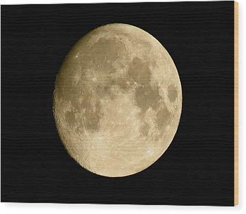 July Moon Wood Print
