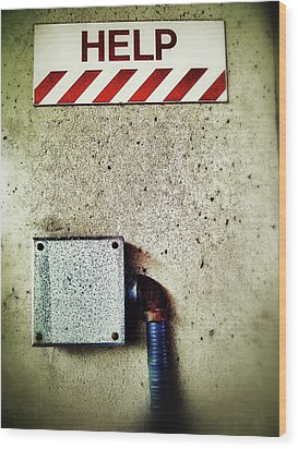 Junction Box Wood Print by Olivier Calas