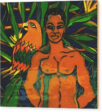 Jungle Pals Wood Print by Patricia Lazar
