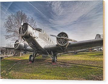 Junkers Ju-52 Wood Print by Miguel Diaz