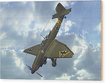 Junkers Ju87 Stuka Wood Print