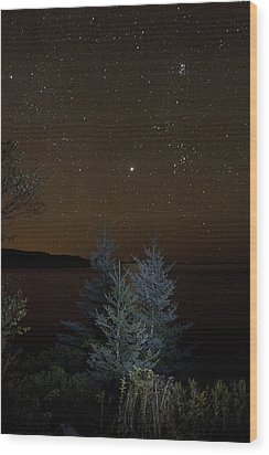 Jupiter  Over Otter Point 2 Wood Print by Brent L Ander