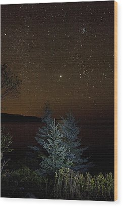 Jupiter  Over Otter Point 3 Wood Print by Brent L Ander