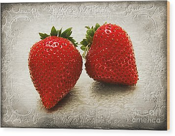Just 2 Classic Berries Wood Print by Andee Design