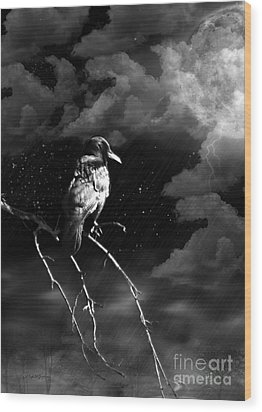 Wood Print featuring the photograph Just Another Moonlight Mile by Rhonda Strickland