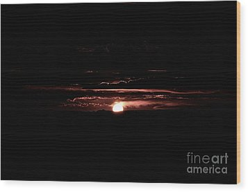 Just Beyond The Sunset Wood Print