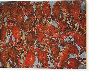 Just Crabs Wood Print by Jim Ziemer
