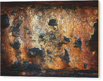 Just Rust Wood Print by Shane Rees