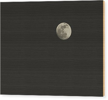 Just The Moon Wood Print by Roger Wedegis
