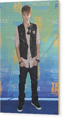 Justin Bieber At Arrivals For 2011 Teen Wood Print by Everett