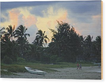 Kailua Beach Sunset Wood Print