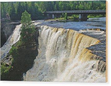 Kakabeka Falls Wood Print by Bill Morgenstern