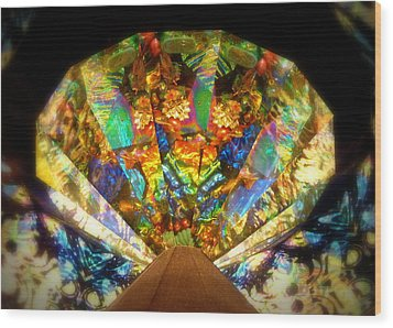 Wood Print featuring the photograph Kaleidoscope Colors And Designs by Cindy Wright