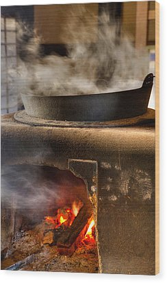 Wood Print featuring the photograph Kamado by Tad Kanazaki
