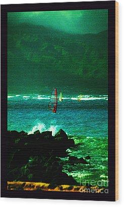 Kanaha Windsurfers Wood Print by Susanne Still