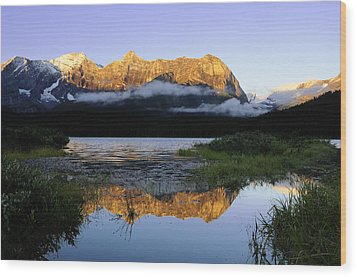 Kananaskis Country Wood Print by Christian Heeb