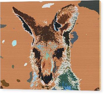 Kanga Roo Wood Print by David Lee Thompson