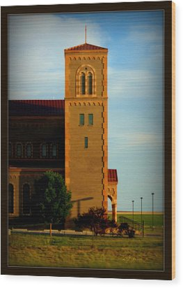 Kansas Architecture Wood Print by Jeanette C Landstrom