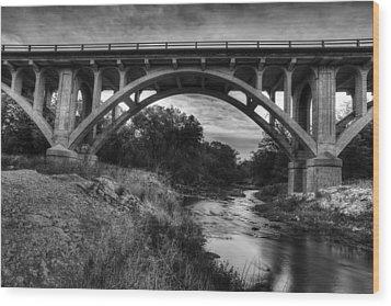 Kansas Archway Bridge Wood Print by Thomas Zimmerman