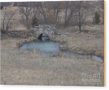 Wood Print featuring the photograph Kansas Bridge by Mark McReynolds