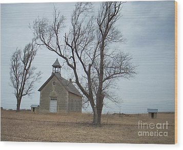 Kansas Stone Church Wood Print