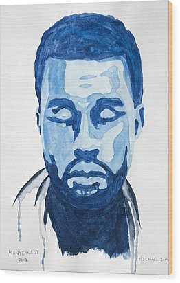 Kanye West Wood Print by Michael Ringwalt