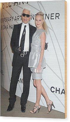 Karl Lagerfeld, Kate Bosworth Wearing Wood Print by Everett