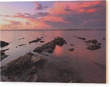 Karuha Sunset 2 Wood Print by Paul Svensen