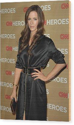 Kate Beckinsale Wearing An Yves Saint Wood Print by Everett