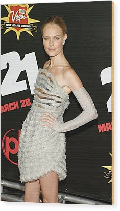 Kate Bosworth  Wearing A Chanel Couture Wood Print by Everett