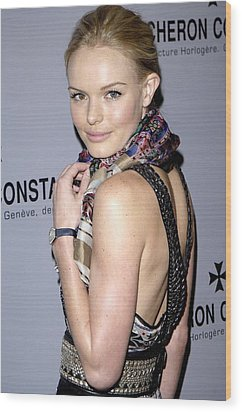 Kate Bosworth Wearing Etro At Arrivals Wood Print by Everett