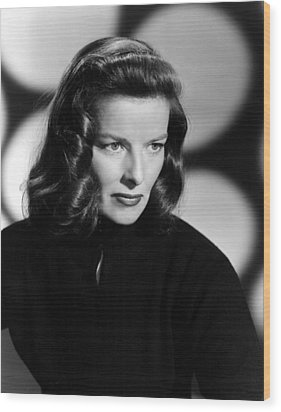 Katharine Hepburn, Ca. 1940s Wood Print by Everett