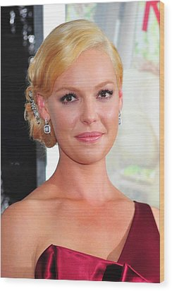Katherine Heigl At Arrivals For Life As Wood Print by Everett