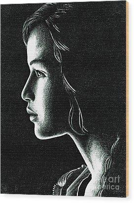 Katniss Everdeen Wood Print