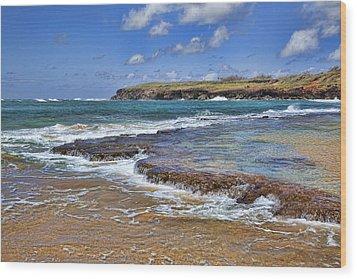 Kauai Beach 2 Wood Print by Kelley King